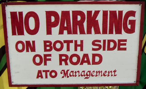 But I can park on one side?